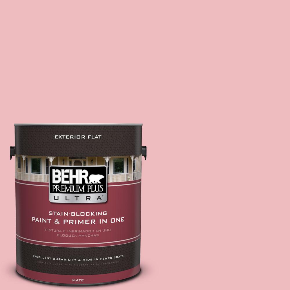 BEHR Premium Plus Ultra 1-gal. #P160-2 Blush Rush Flat Exterior Paint