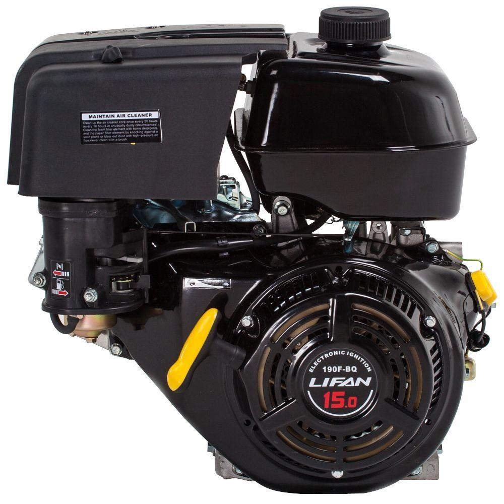 LIFAN 1 in. 15 HP 420cc OHV Electric Start Horizontal Keyway Shaft Gas Engine