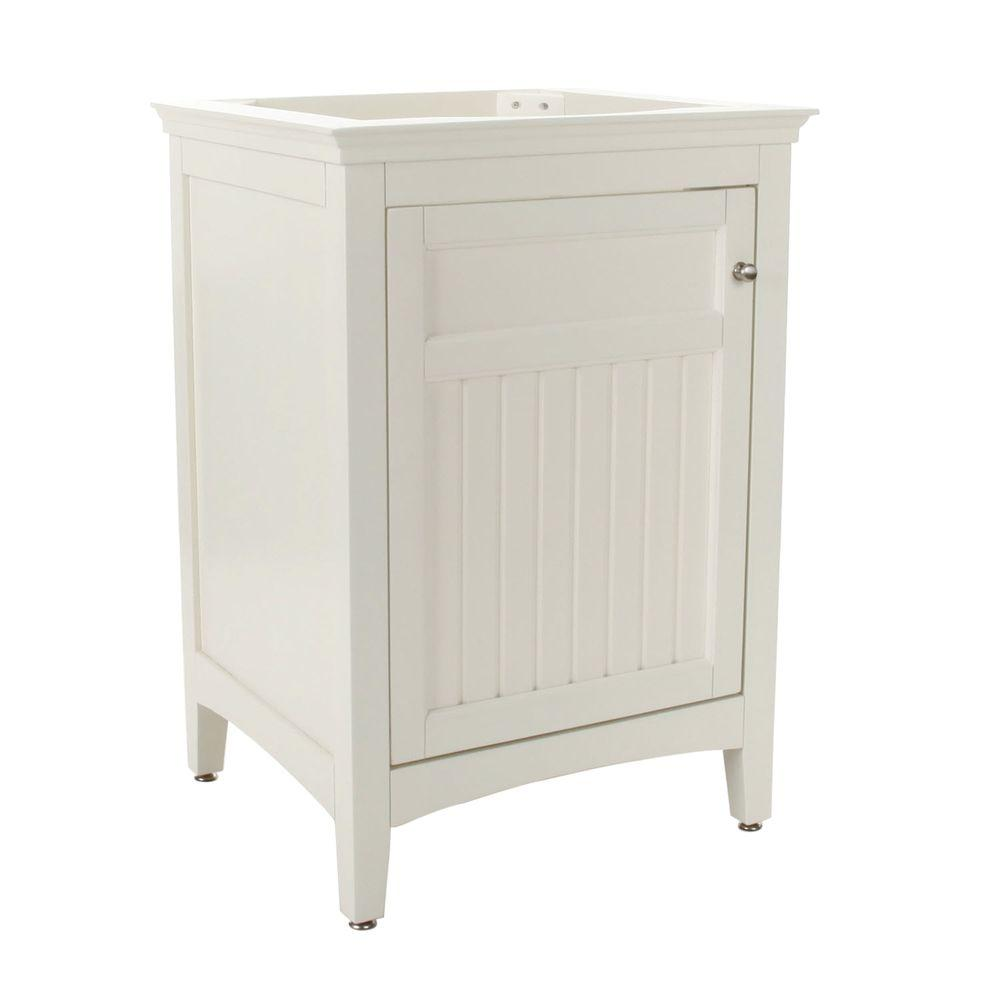 Pegasus Carrabelle 24 in. W x 21 in. D x 34 in. H Birch Vanity Cabinet Only in Glacier White-DISCONTINUED