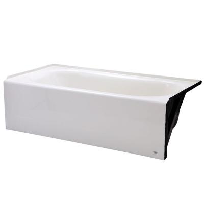 Princeton 60 in. Right Hand Drain Rectangular Above Floor Apron Front Bathtub in White