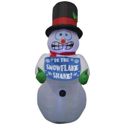 6 ft. Pre-lit Inflatable Shivering Snowman Airblown