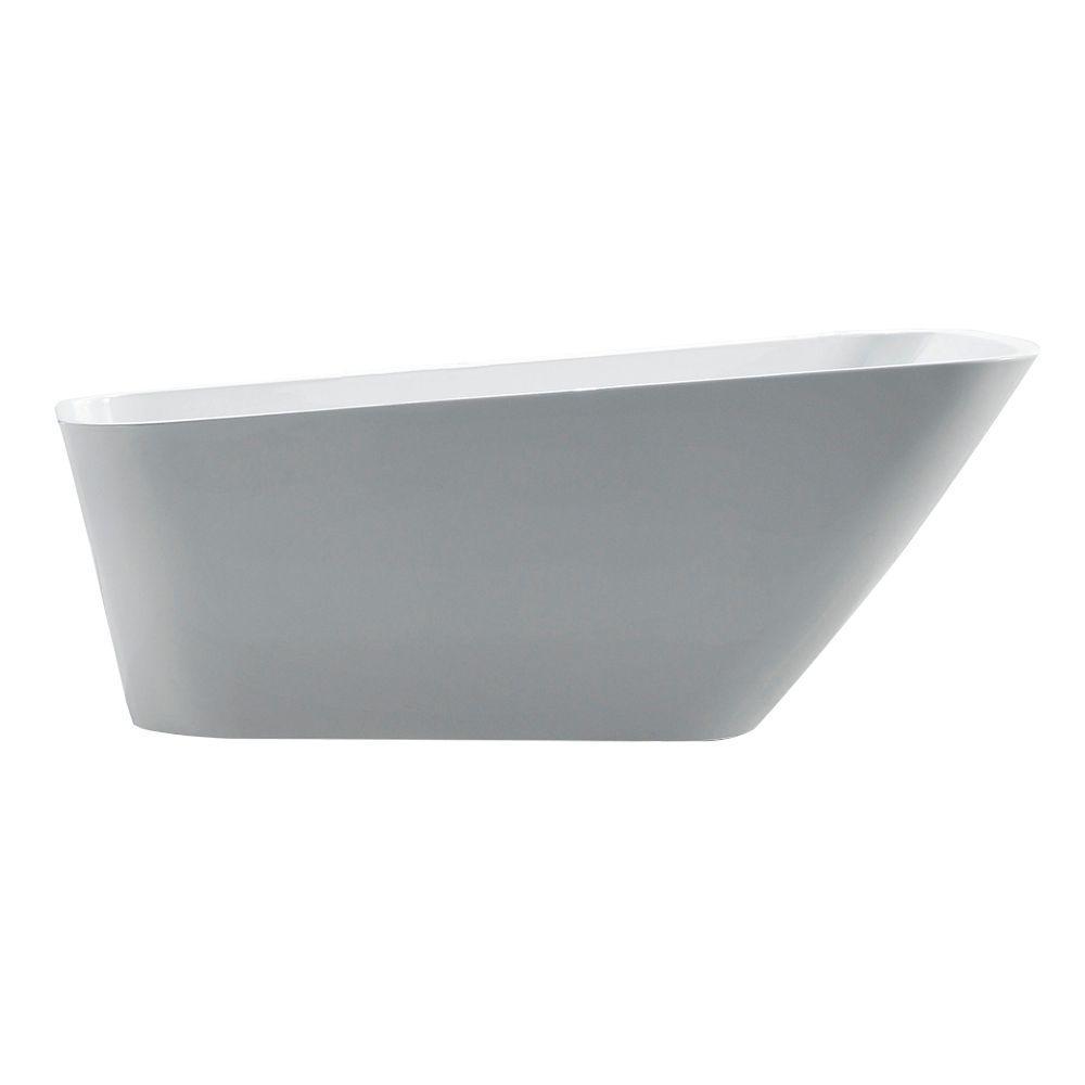 Jade Bath Urban Retreat Collection Belmont 5.6 ft. Reversible Drain Free-Standing Bathtub in White