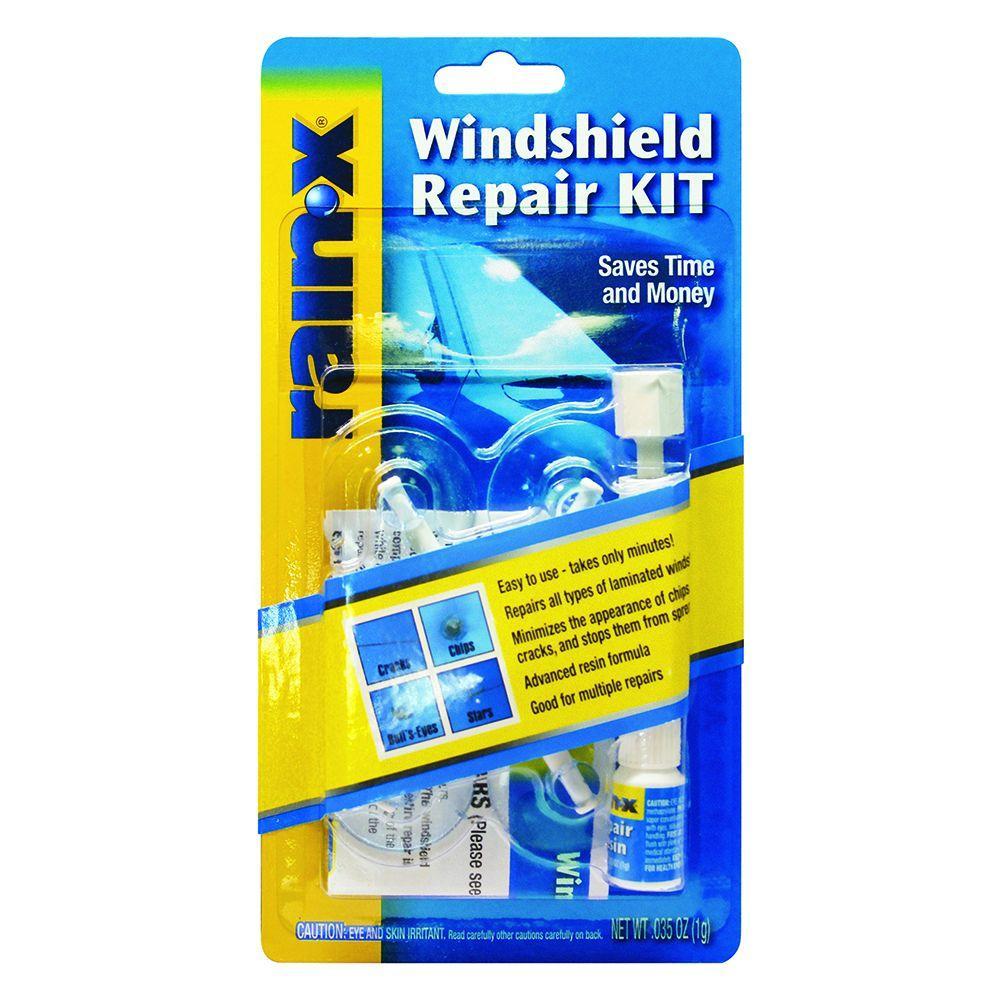 Windshield Crack Repair Kit >> Rain X Windshield Repair Kit 600001 The Home Depot