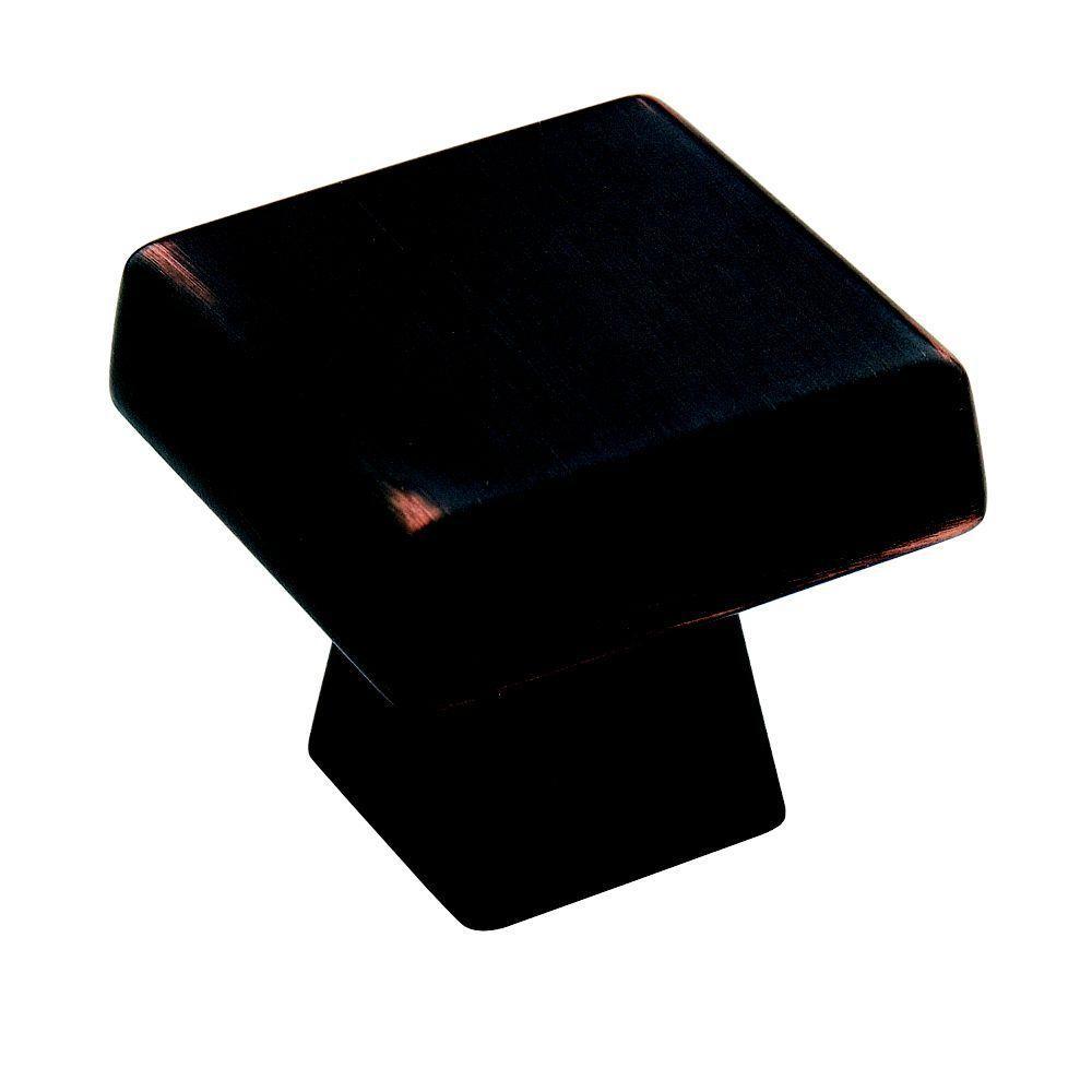 Blackrock 1-1/2 in. Oil Rubbed Bronze Square Cabinet Knob