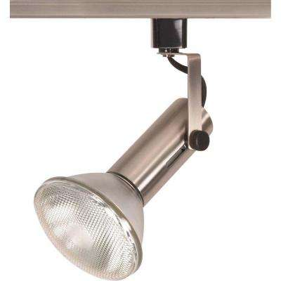 1-Light 2 in. Brushed Nickel Universal Holder Track Lighting Head