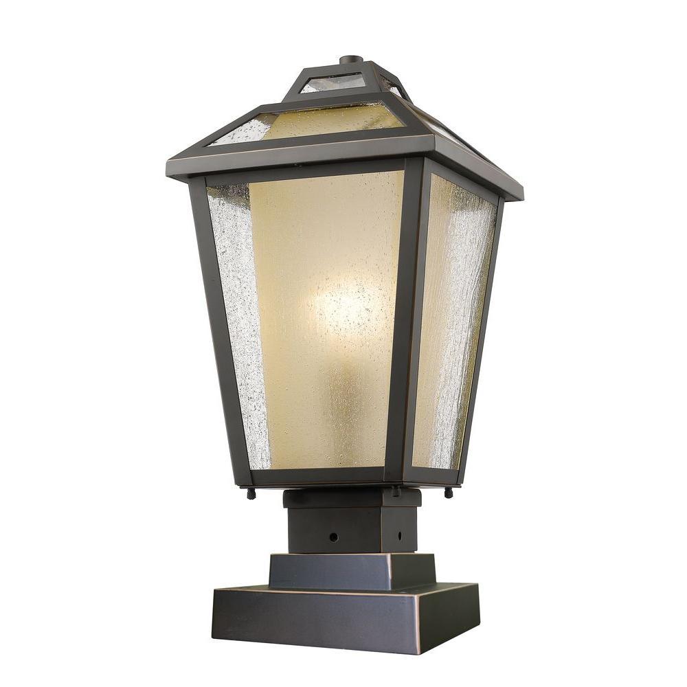outdoor lighting fixtures pier mount. arnett 1-light oil-rubbed bronze outdoor pier mount lighting fixtures