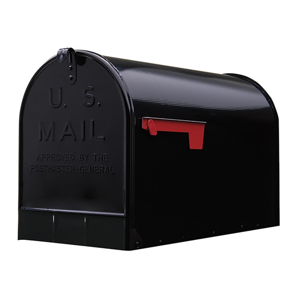 Gibraltar Mailboxes Stanley Extra Large Post Mount Mailbox (Black)