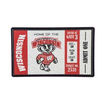 University of Wisconsin-Madison 30 in. x 18 in. Vinyl Indoor/Outdoor Turf Floor Mat