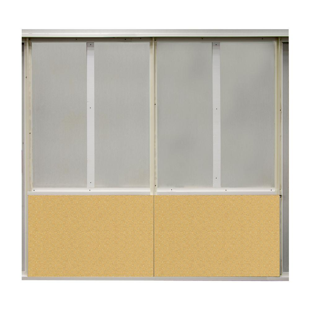 SoftWall Finishing Systems 20 sq. ft. Taxi Fabric Covered Bottom Kit Wall Panel