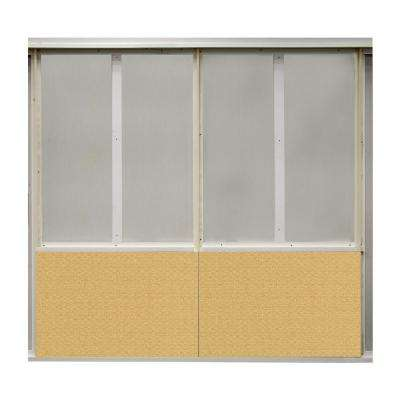 20 sq. ft. Taxi Fabric Covered Bottom Kit Wall Panel