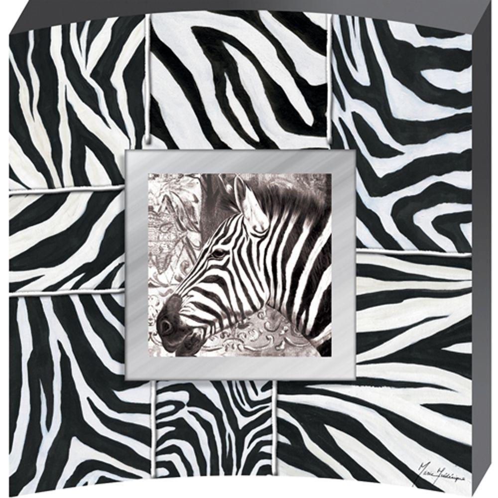 Yosemite Home Decor 28 in. x 28 in. Surrounded by Zebras Hand Painted Contemporary Artwork -DISCONTINUED