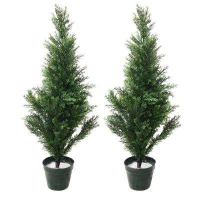 3 ft. Topiary Cedar Trees (2-Pack)