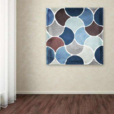 """24 in. x 24 in. """"Moroccan Blues II"""" by Color Bakery Printed Canvas Wall Art"""