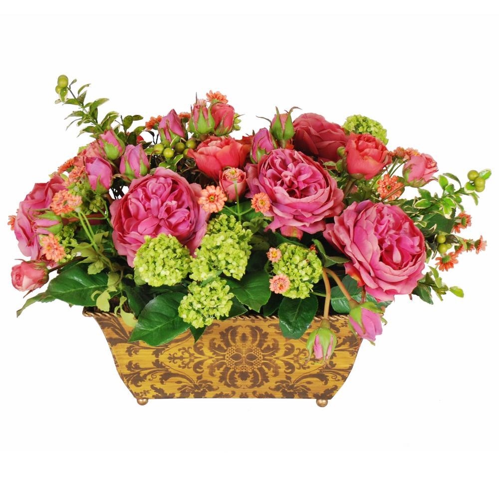 Null 19 In Wide Roses And Chamomile Mixed Centerpiece