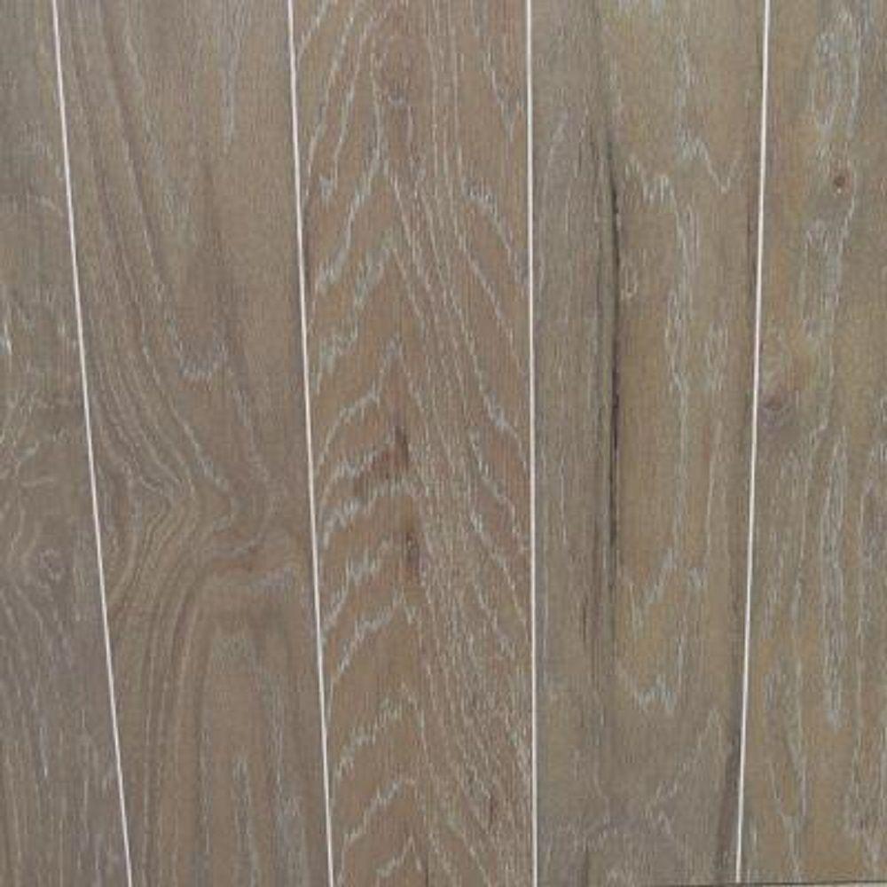 Take Home Sample - Oak Driftwood Wire Brushed Engineered Hardwood Flooring - 5 in. x 7 in.