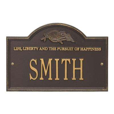 Life and Liberty Personalized Plaque