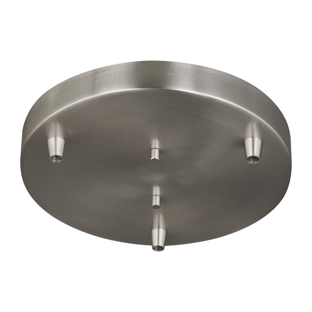 Sea Gull Lighting Towner 3 Light Brushed Nickel Pendant Canopy