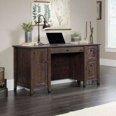 Carson Forge Coffee Oak Computer Desk