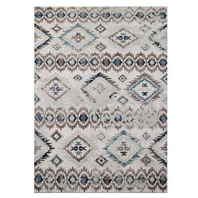 Cream/Brown 8 ft. x 10 ft. Area Rug