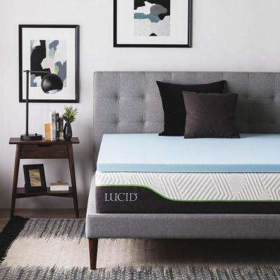 2 in. Twin Gel Infused Memory Foam Mattress Topper