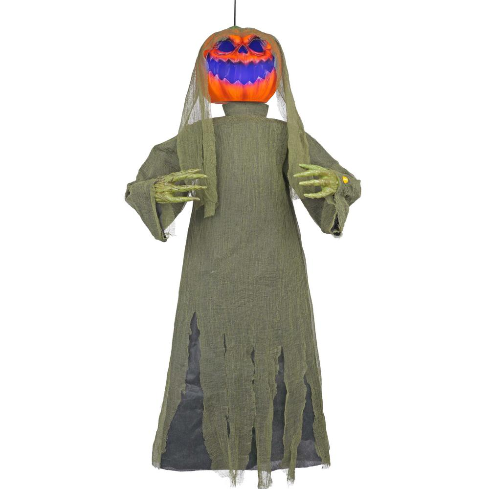 Home accents holiday 48 in hanging jack o lantern with for Home depot halloween decorations 2013