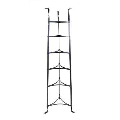 6-Tier Cookware Stand Free Standing Pot Rack in Hammered Steel (Unassembled)