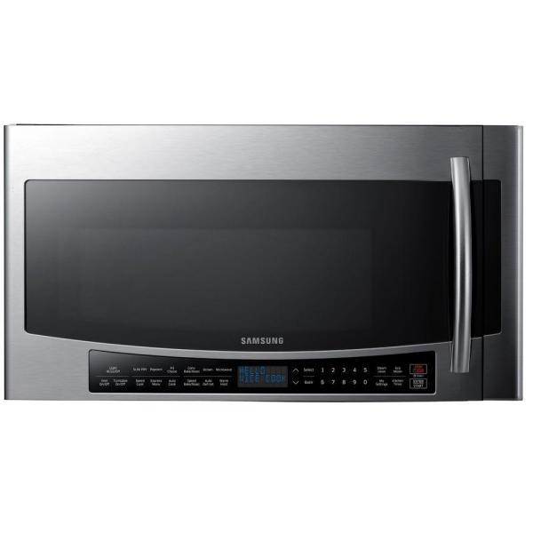 30 in W 1.7 cu. ft. Over the Range Convection Microwave in Fingerprint Resistant Stainless Steel with Sensor Cooking