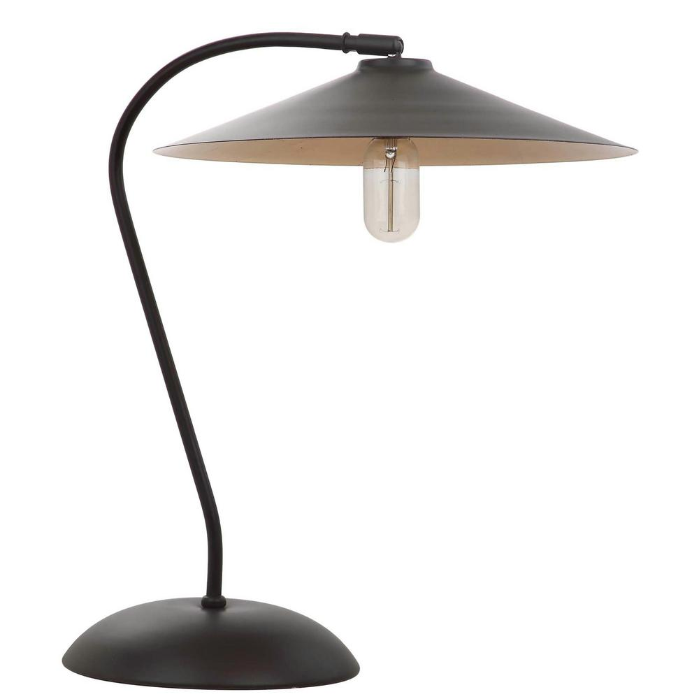 Safavieh Orla 31 In Wood Finish Arc Table Lamp With Wood Finish Shade Tbl4036a The Home Depot