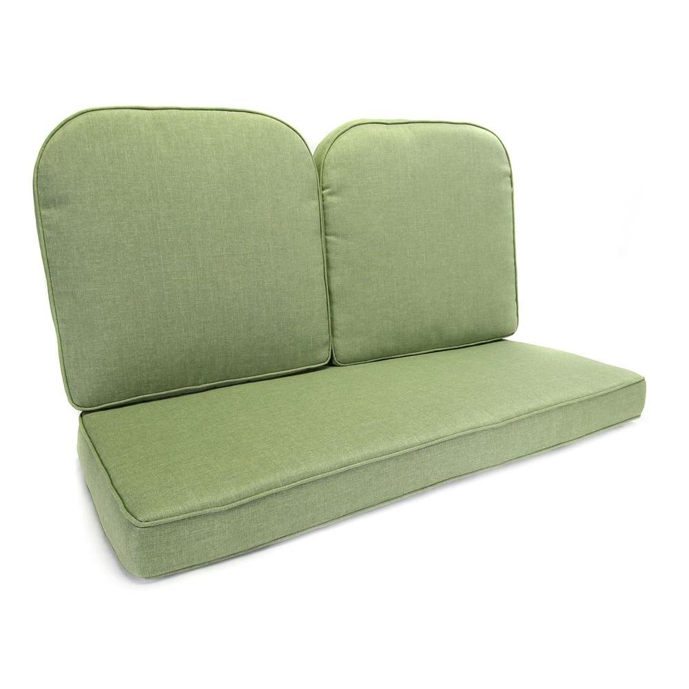 Hampton Bay Fall River 21.5 X 21 Outdoor Glider Cushion In Standard Moss