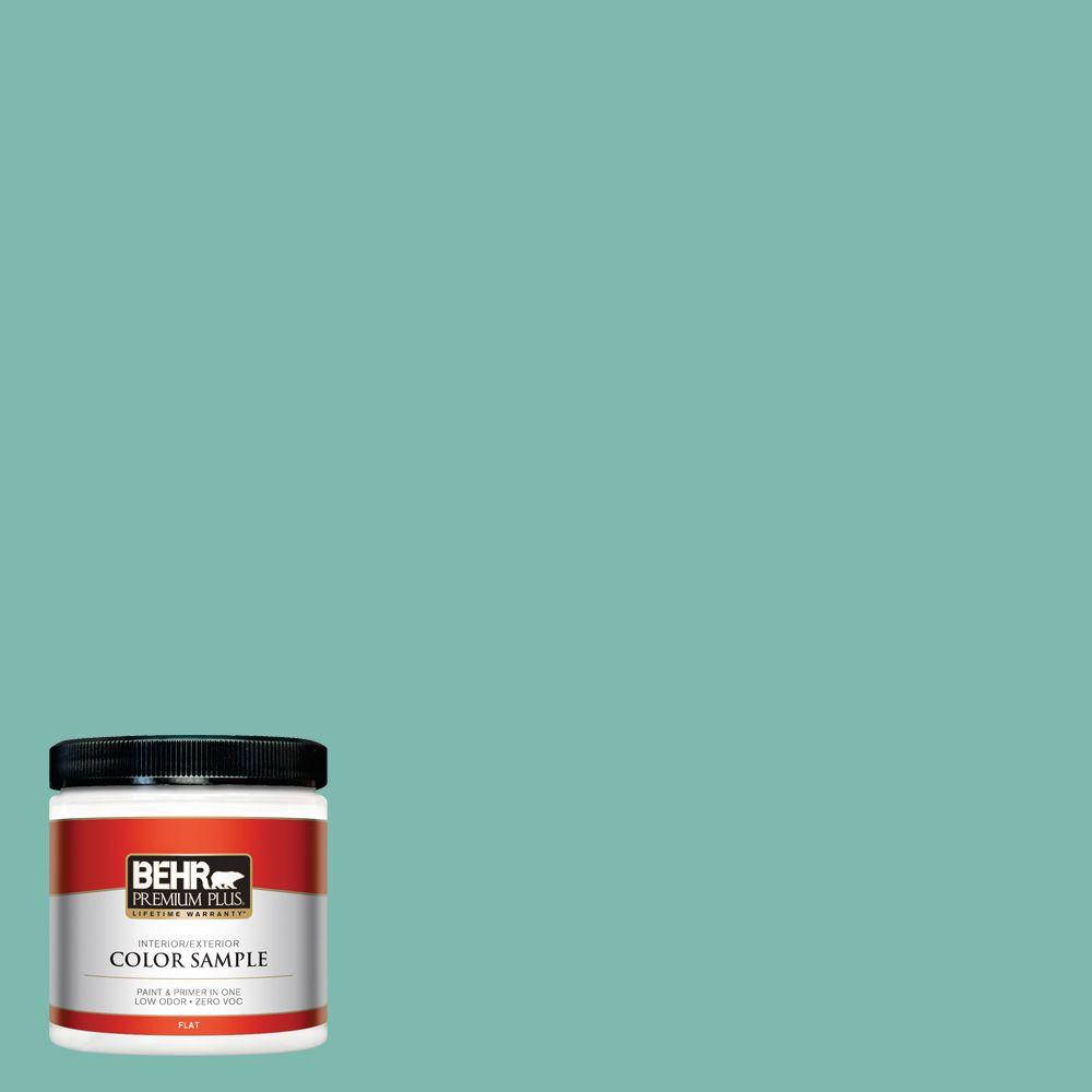 BEHR Premium Plus 8 oz. #490D-5 Winter Surf Interior/Exterior Paint Sample