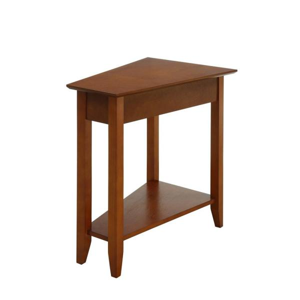 Convenience Concepts American Heritage Cherry Wedge End Table R6-249