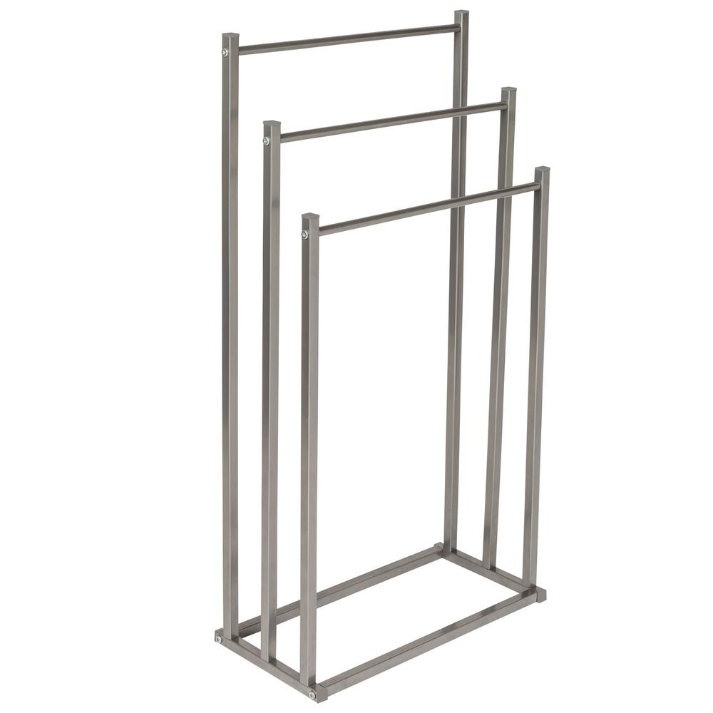 Honey Can Do 17 7 In X 8 46 33 27 Silver 3 Tier Towel Rack