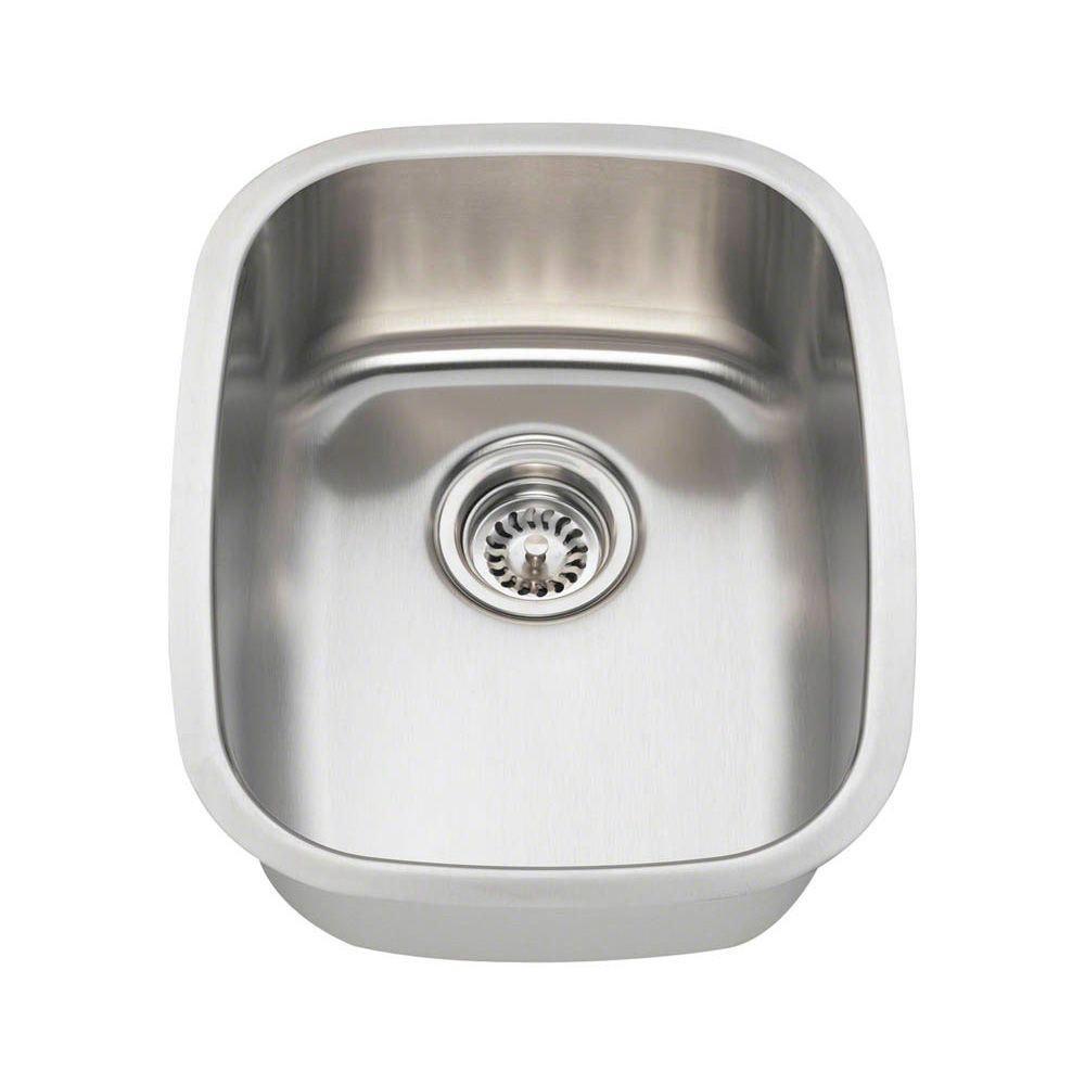 Polaris Sinks Undermount Stainless Steel 15 In. Single Bowl Bar Sink