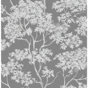 Brewster Paix Charcoal Trees Wallpaper by Brewster