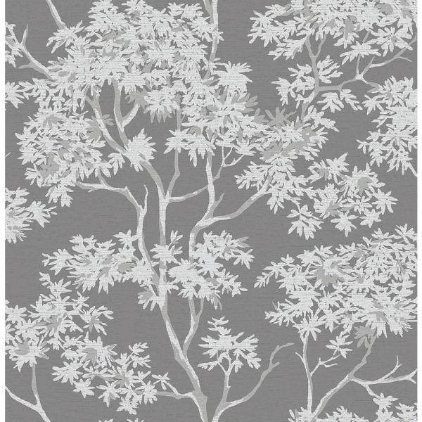 Brewster Paix Charcoal Trees Wallpaper 2704-41253SW