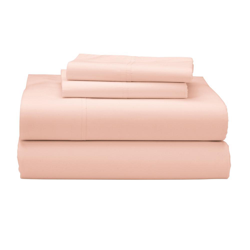 The Company Store Company Cotton 3-Piece Peach Blossom 300 Thread Count