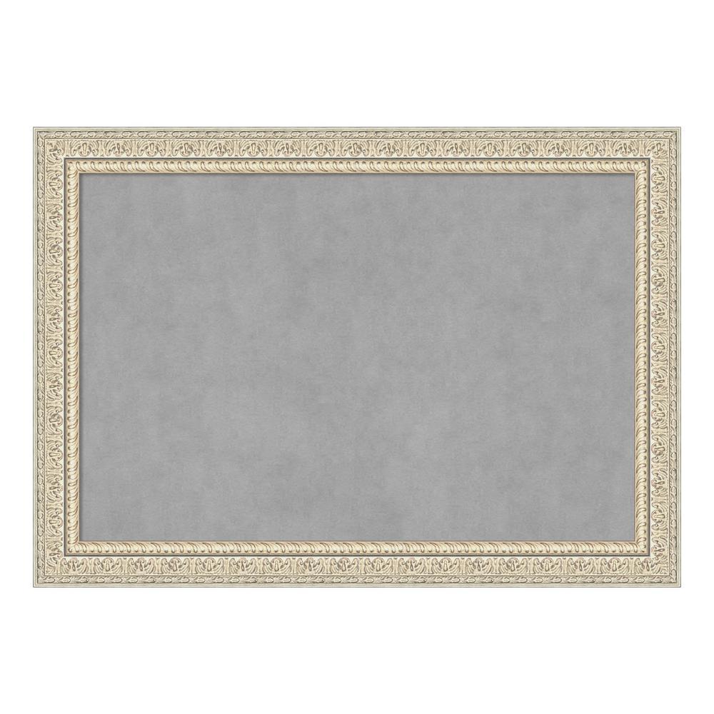 Fair Baroque Cream Framed Magnetic Memo Board