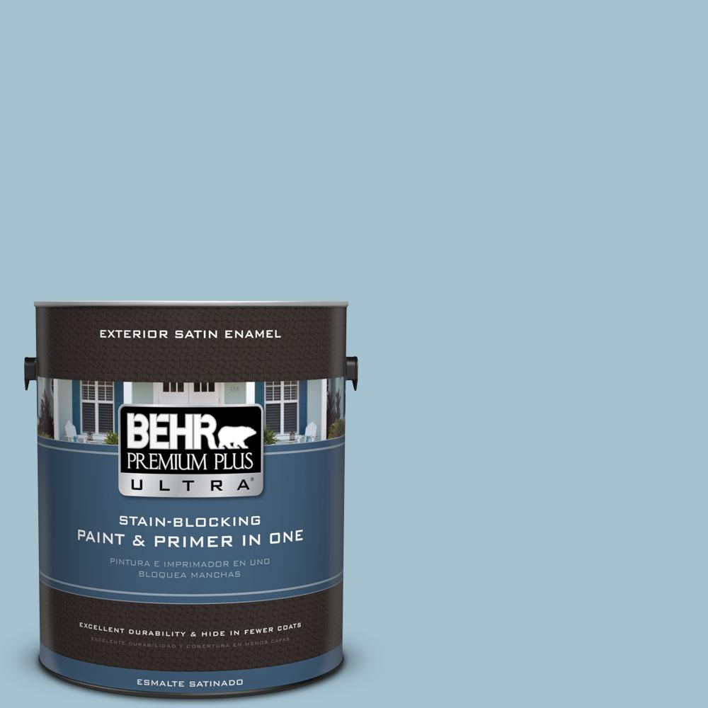 BEHR Premium Plus Ultra 1-gal. #550E-3 Viking Satin Enamel Exterior Paint