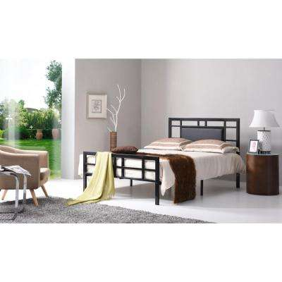 Black Queen Upholstered Bed