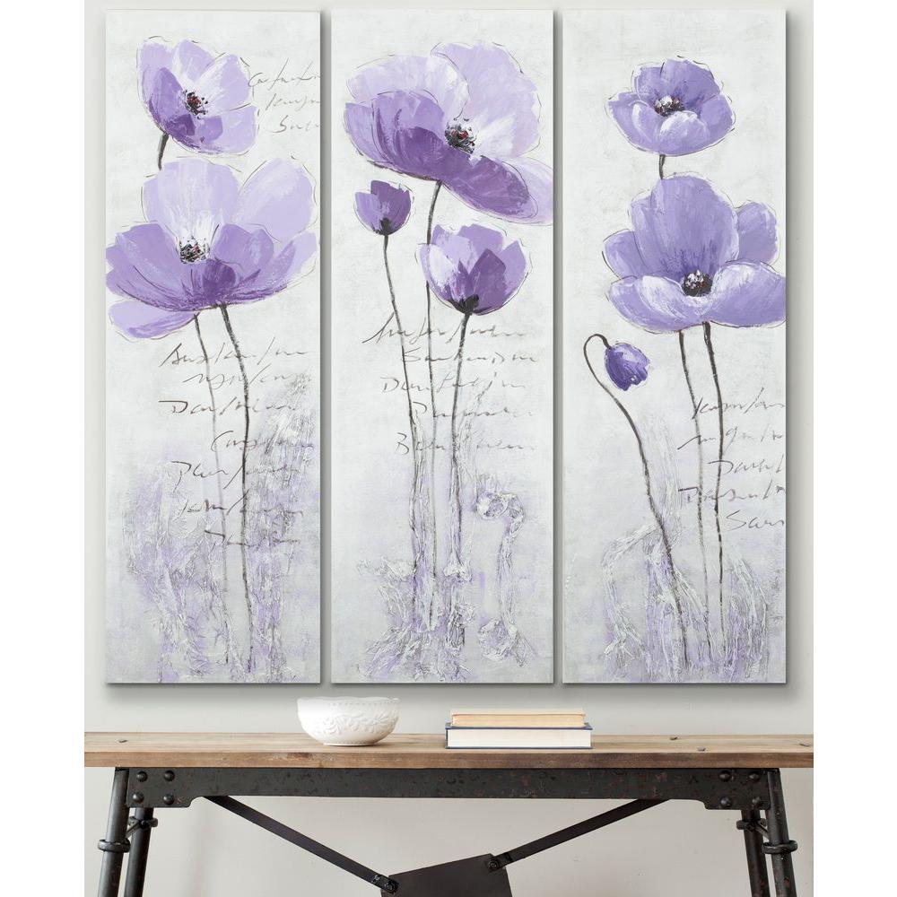 """18 in. x 47 in. """"Purple Poppy"""" Wall Art"""