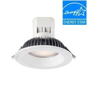 EnviroLite Easy Up 6 inch Bright White LED Recessed Light with 4000K J-Box (No Can Needed) by EnviroLite