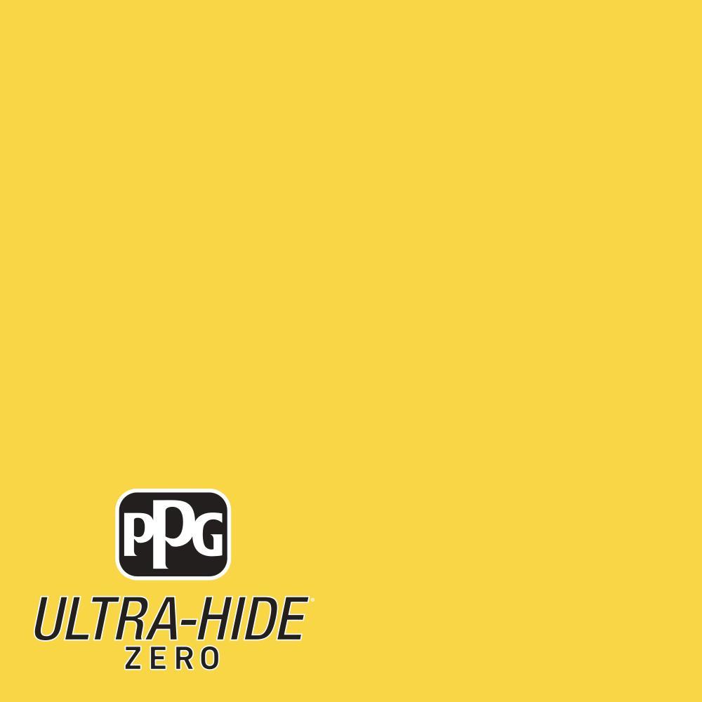 1 gal. #HDPY41D Ultra-Hide Zero Festival Yellow Flat Interior Paint