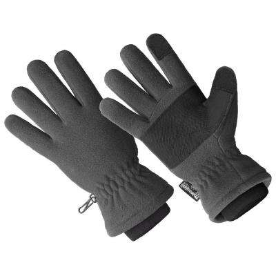 3M Thinsulate Lined 40 gm Grey 100% Waterproof Micro Fleece Glove, Premium Touchscreen (1 Size Fits All)