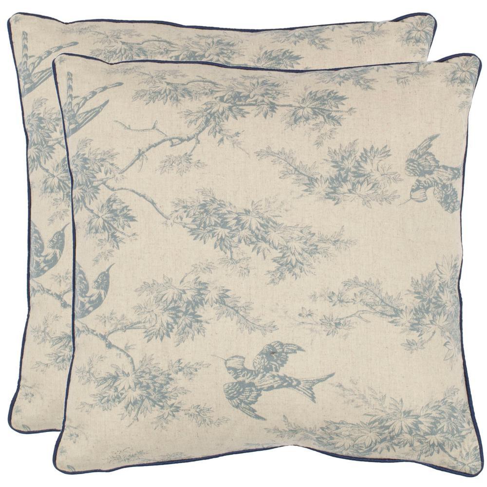Safavieh Starlette Printed Patterns Pillow (2-Pack), Blue