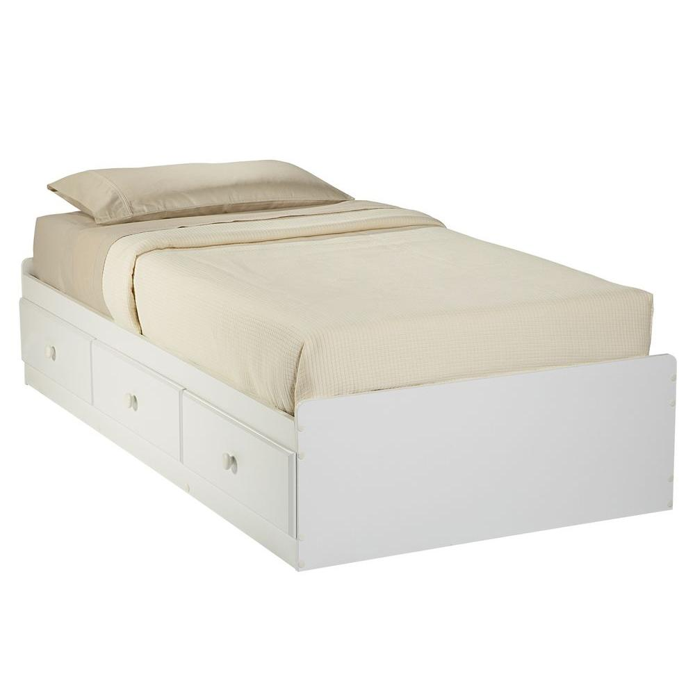 New Visions by Lane My Place, My Space White Twin-Size 3-Drawer Platform Storage Bed-DISCONTINUED