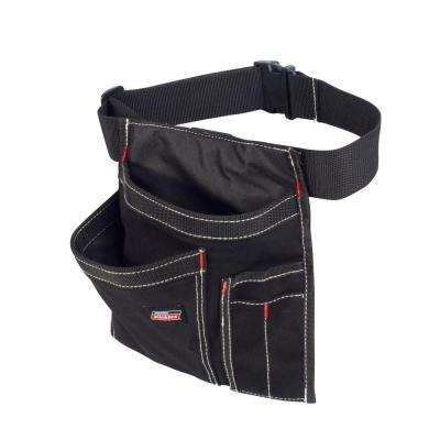 5-Pocket Single Side Tool Pouch / Work Apron, Black