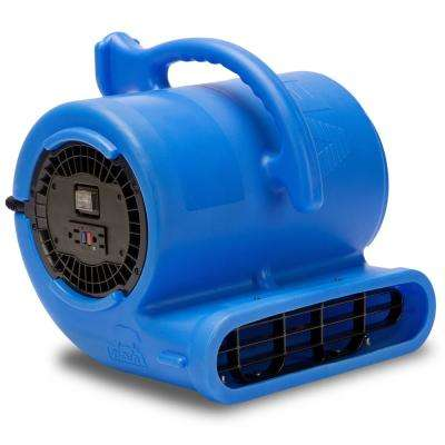 1/3 HP Air Mover for Water Damage Restoration Carpet Dryer Janitorial Floor Blower Fan in Blue