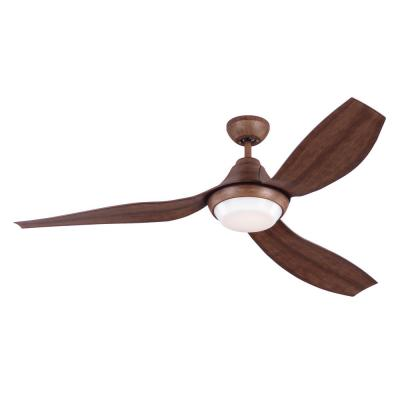 Avvo 56 in. Indoor/Outdoor Koa Ceiling Fan with LED Light Kit, DC Motor, ABS Blades and 6-Speed Remote Control
