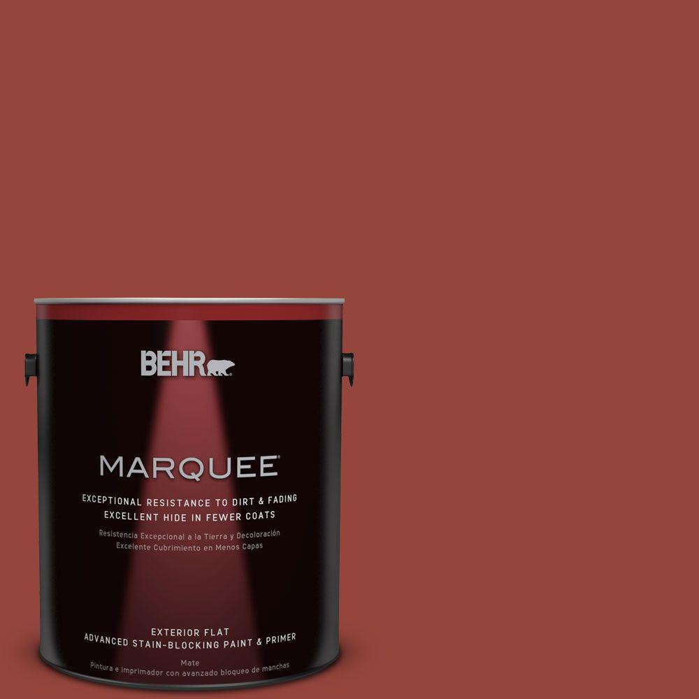 BEHR MARQUEE 1-gal. #PPU2-17 Morocco Red Flat Exterior Paint