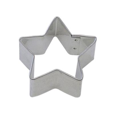 12-Piece 2 in. Star Tinplated Steel Cookie Cutter & Cookie Recipe